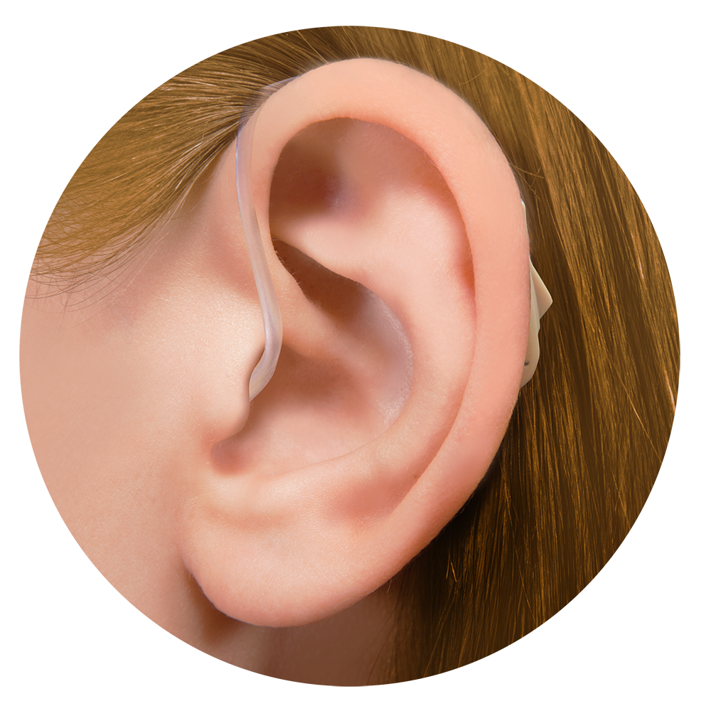 hearing aid with ear