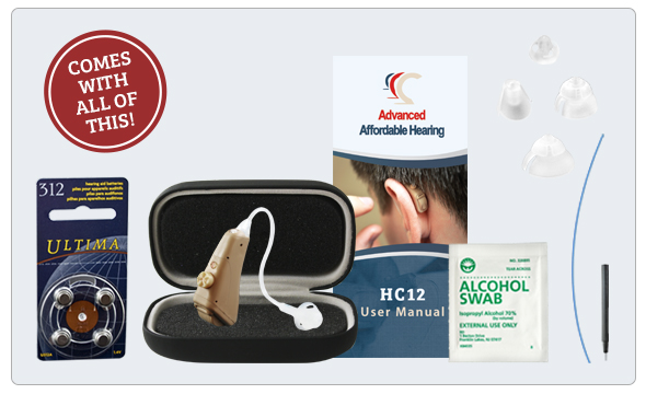 HC12 Digital Hearing Aid - What's in the box