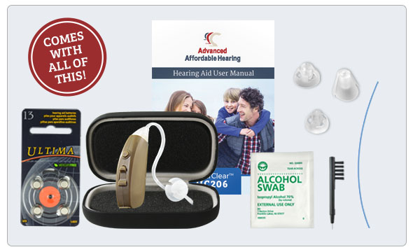 HCZ3 Digital Hearing Aid - What's in the box