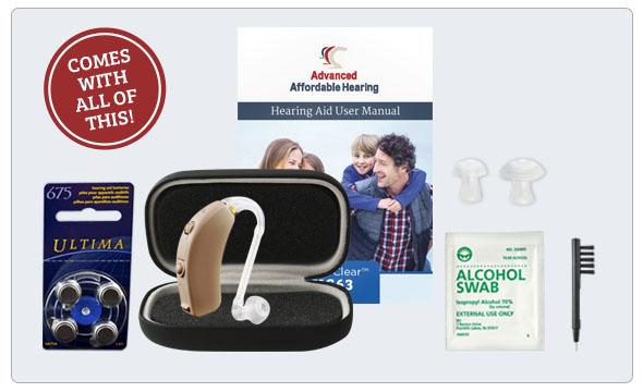 Refurbished HearClear HC64 Digital Hearing Aid - What's in the box
