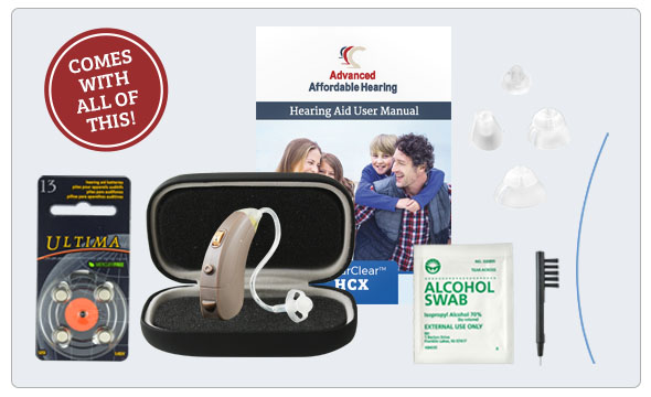 HCX Digital Hearing Aid - What's in the box