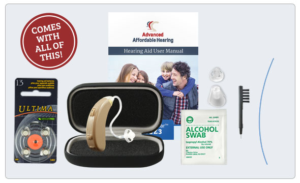Refurbished HearClear HCZ3 Digital Hearing Aid - What's in the box