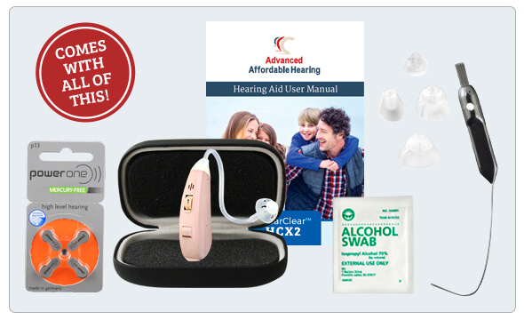 HCX2 Digital Hearing Aid - What's in the box