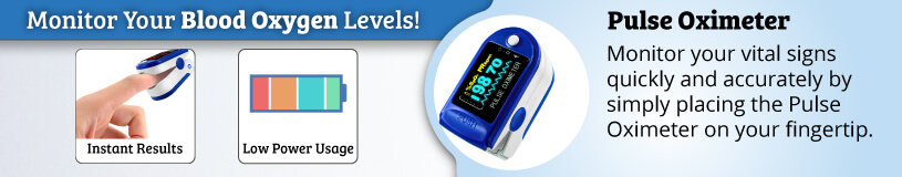 Finger Pulse Oximeter for monitoring your blood oxygen levels
