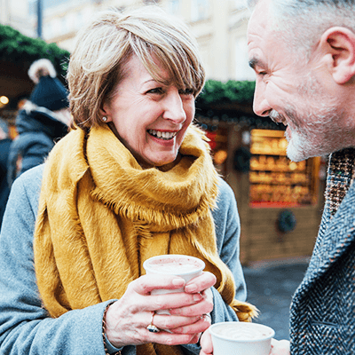 couple strengthening their relationship despite hearing loss
