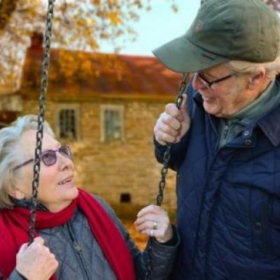 Elderly Couple Considering Upgrading Their Hearing Aids