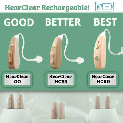 there are a variety of cheap, rechargeable hearing aids on the market