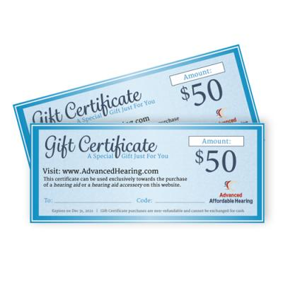 Gift Certificate Product $50
