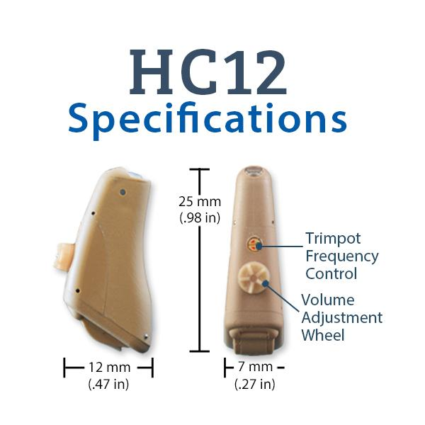 Refurbished HearClear HC12 Digital Hearing Aid Specifications