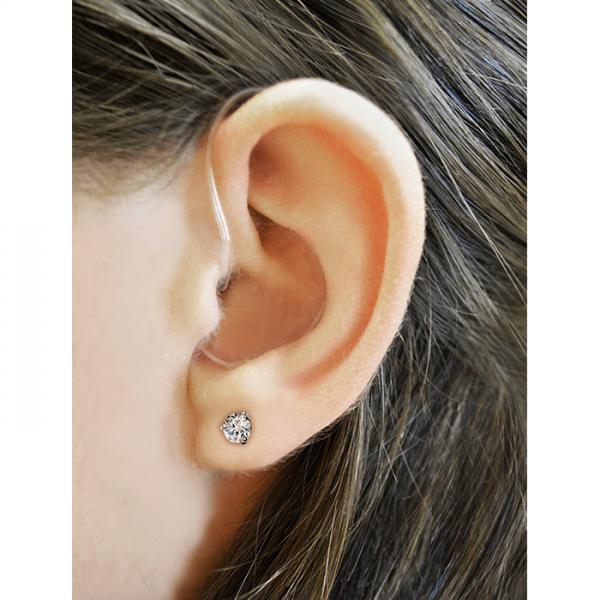 Refurbished HearClear HC12 Digital Hearing Aid on the ear