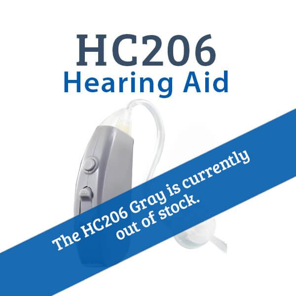 HC206 Digital Hearing Aid Gray Out of Stock
