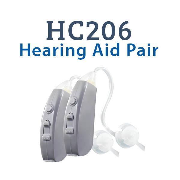 HC206 Digital Hearing Aid Pair