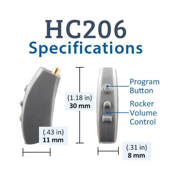 HC206 Digital Hearing Aid Specifications