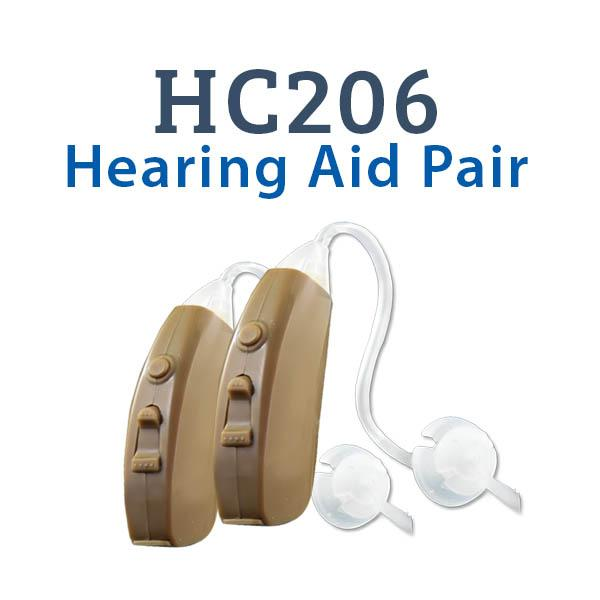 HC206 Digital Hearing Aid Pair