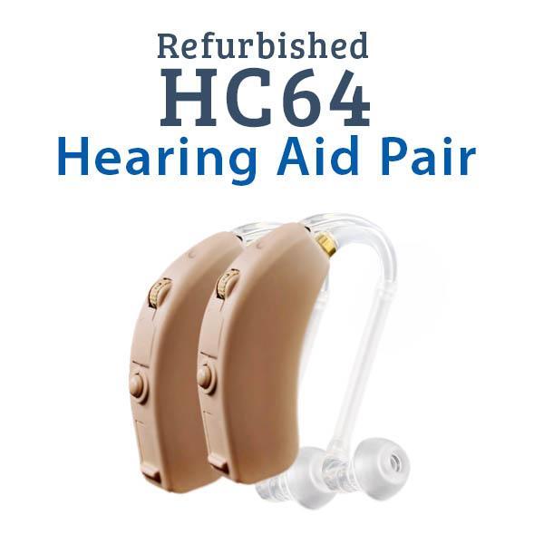 Refurbished HearClear HC64 Digital Hearing Aid Pair