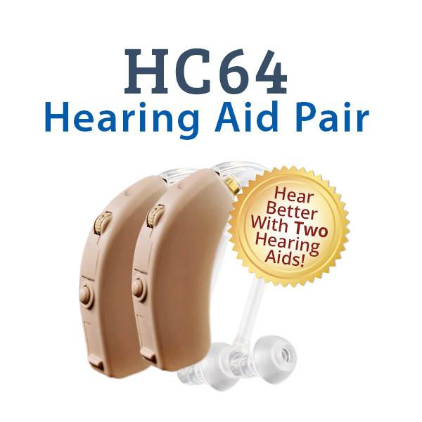 HC64 Digital Hearing Aid Pair