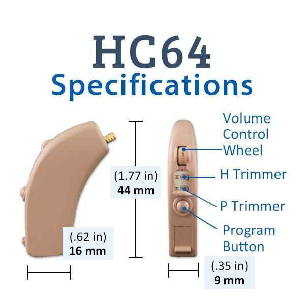 Refurbished HearClear HC64 Digital Hearing Aid Specifications