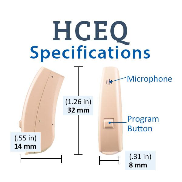 HCEQ Digital Hearing Aid specifications
