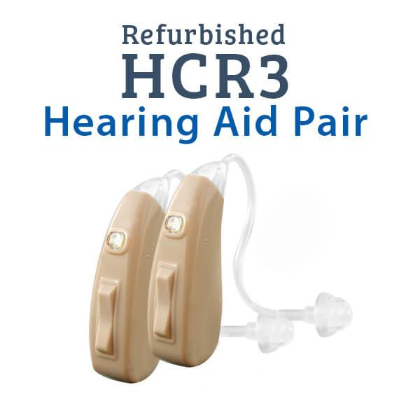 Refurbished HCR3 Rechargeable Hearing Aid Pair