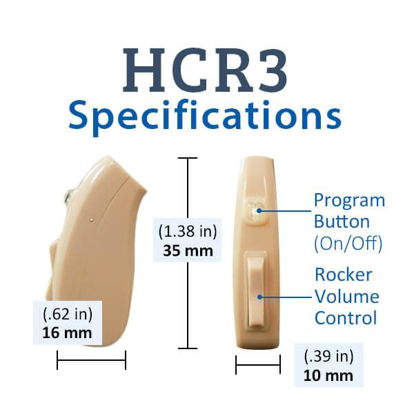 HCR3 Digital Rechargeable Hearing Aids Specifications