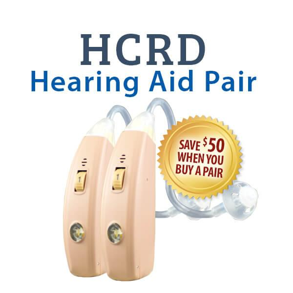 HCRD Rechargeable Hearing Aid Pair