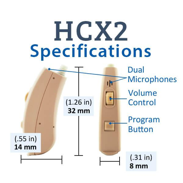 HCX2 Digital Hearing Aid Specifications