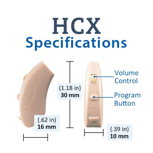 HCX Digital Hearing Aid Specifications