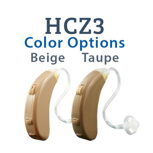 HCZ3 Digital Hearing Aid Color Options Beige and Taupe