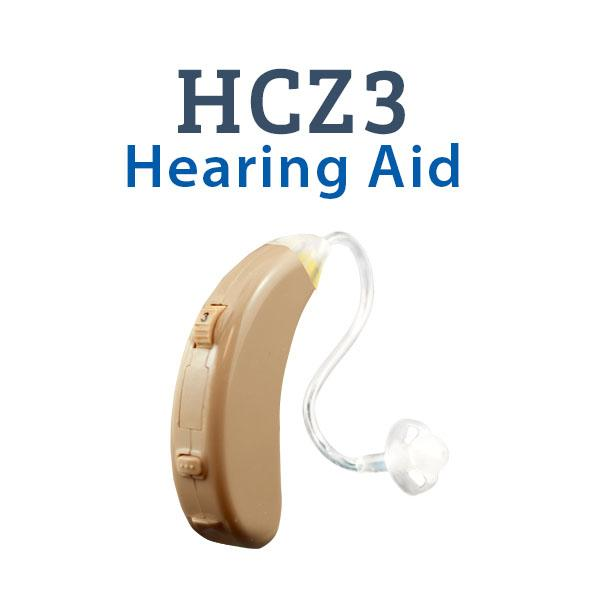 HCZ3 Digital Hearing Aid - Beige with HC Thin Tubing attached