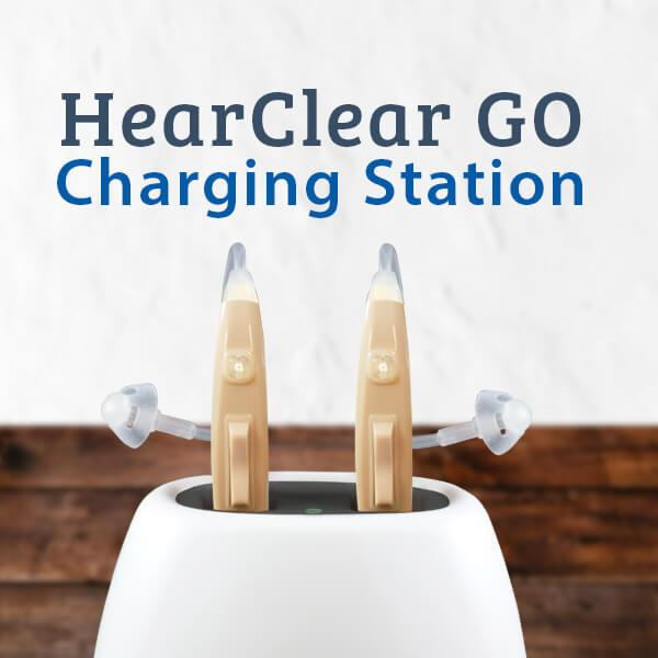 HearClear GO Rechargeable Digital Hearing Aid Charging Station