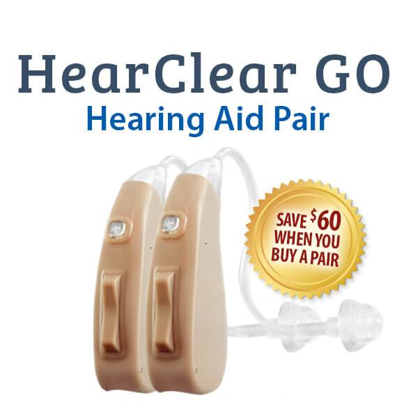 HearClear GO Rechargeable Digital Hearing Aid Pair