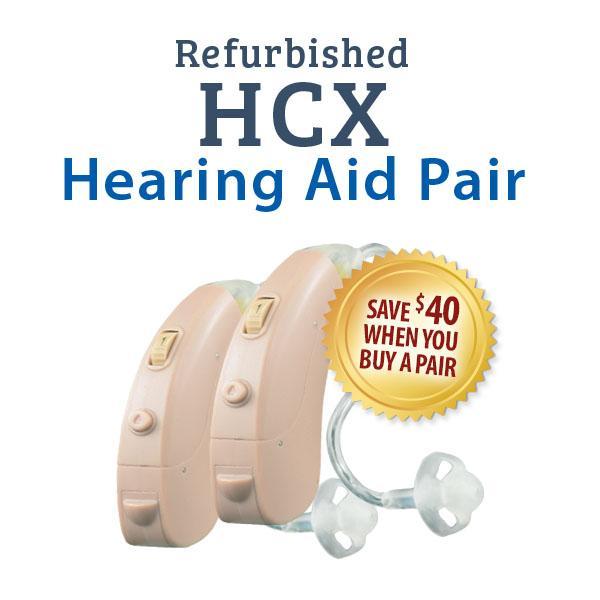 Refurbished HearClear HCX Digital Hearing Aid Pair