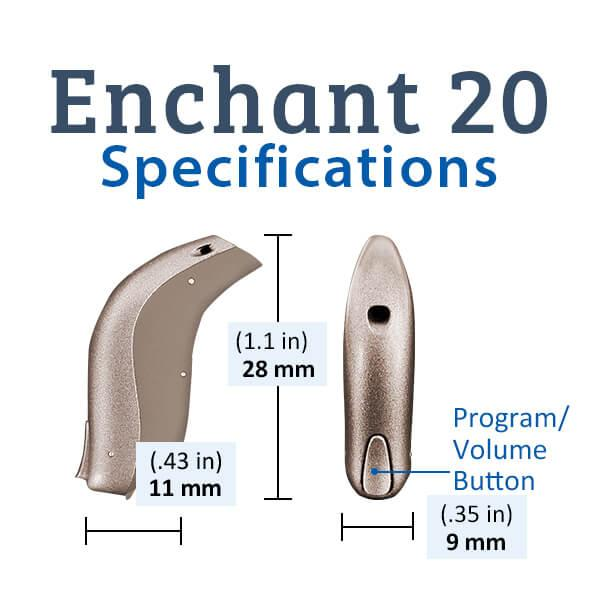 Sonic Innovations Enchant 20 Hearing Aid Specifications